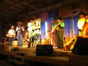 The horse-barn dinner show at Bit-O-Wyo Ranch