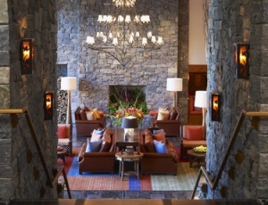Cozy seating areas abound at Stowe Mountain Lodge.